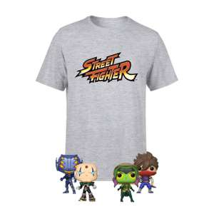 [Zavvi.de] Street Fighter Shirt und 4 Pop Vinyl Figuren