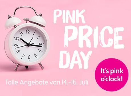 Pink Price Day mit einigen Rabatten z.B. 25% auf das teuerste Produkt
