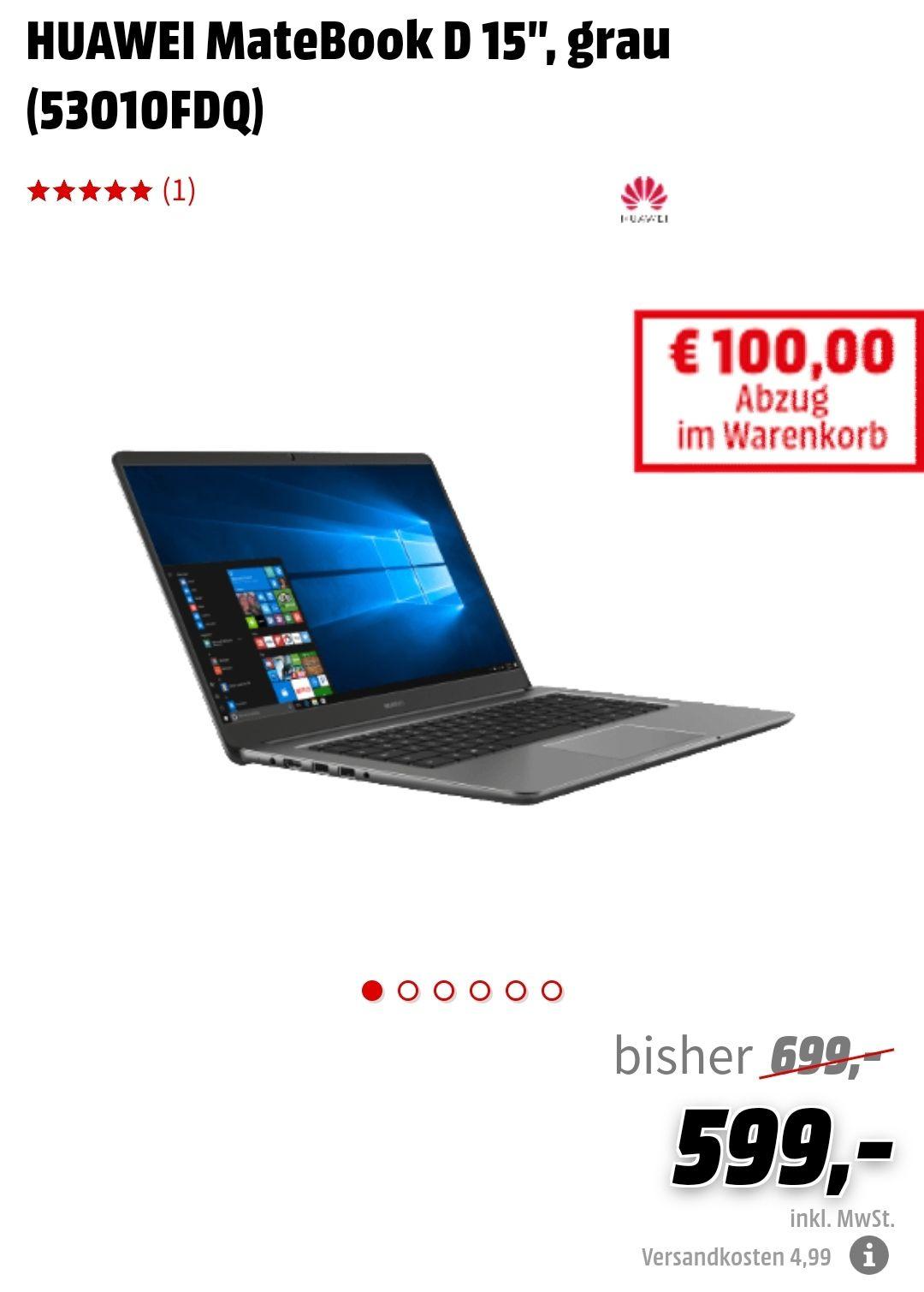 """Huawei Matebook D 15"""" mit Intel Prozessor zum Knallerpreis!"""