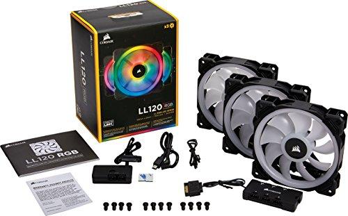 Corsair Lüfter LL120 RGB LED PWM 3er Set inkl. Hub