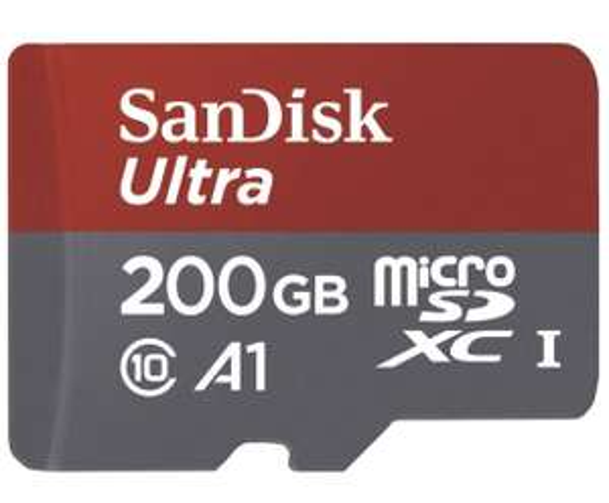 SanDisk Ultra 200GB microSDXC Speicherkarte + Adapter bis zu 100 MB/Sek., Class 10, U1, A1, FFP
