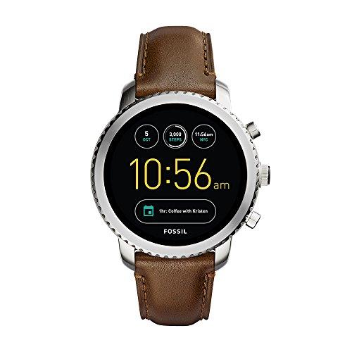 Fossil Herren-Armbanduhr Q Explorist Smartwatch Leder (FTW4003)