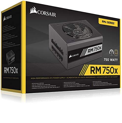 Corsair RM750x PC-Netzteil (Voll-Modulares Kabelmanagement, 80 Plus Gold, 750 Watt)