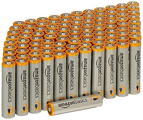 100Stk. AmazonBasics AAA Alkalibatterien