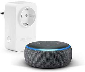 [Amazon] Echo Dot (3. Gen.), Anthrazit Stoff + Amazon Smart Plug (WLAN-Steckdose)