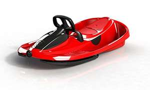 www.AMAZON.de l Winter is coming l Gizmo Riders Kinder Lenkschlitten Steerable Sledges Stratos rot