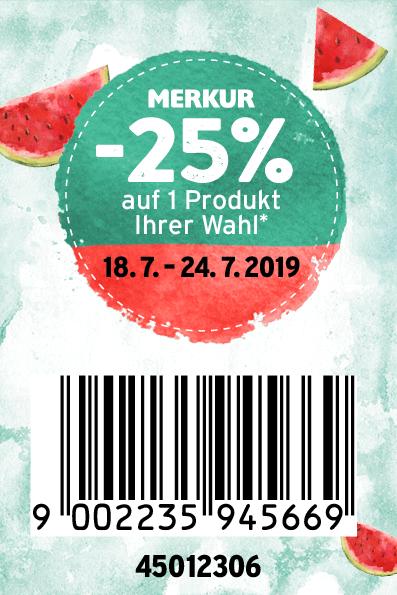 Merkur -25% Rabatt-Pickerl Online (18.07. bis 24.07.2019)