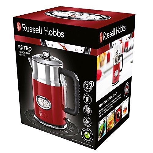 Russell Hobbs Retro Wasserkocher (2400W, Wassertemperaturanzeige, Füllmengenmarkierung)