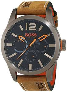 Hugo Boss Orange Paris Herren-Armbanduhr Quartz mit braunem Leder Armband (1513240)