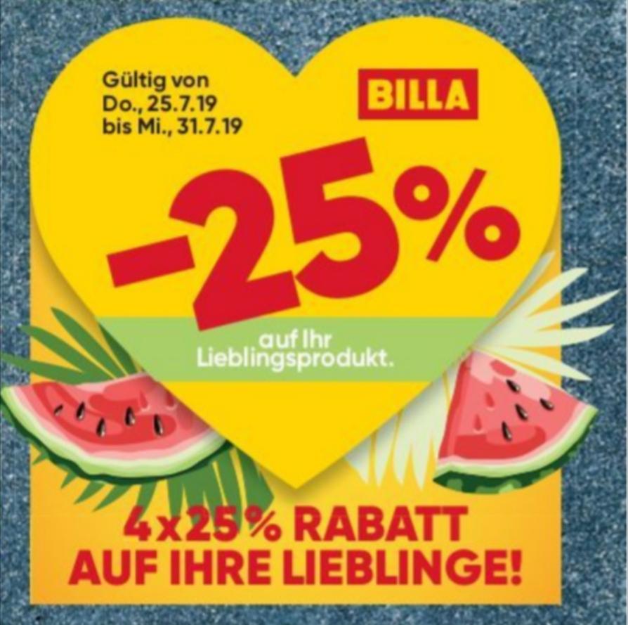 [Billa] -25%-Rabattaufkleber - und wöchentlich grüßt das Murmeltier