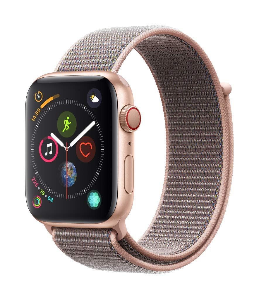 [AMAZON IT] Apple Watch Series 4 GPS + Cellular, 44mm Aluminiumgehäuse, Gold, mit Sport Loop, sandrosa