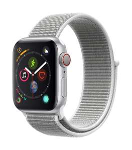 [AMAZON IT] Apple Watch Series 4 GPS + Cellular 40mm silber Aluminium Sport Loop muschel