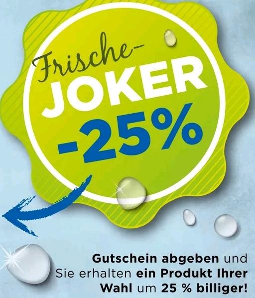 """[Unimarkt] """"Frische-Joker"""" -25 % Artikelrabatt (Obst & Gemüse, Brot & Gebäck, Molkerei)"""
