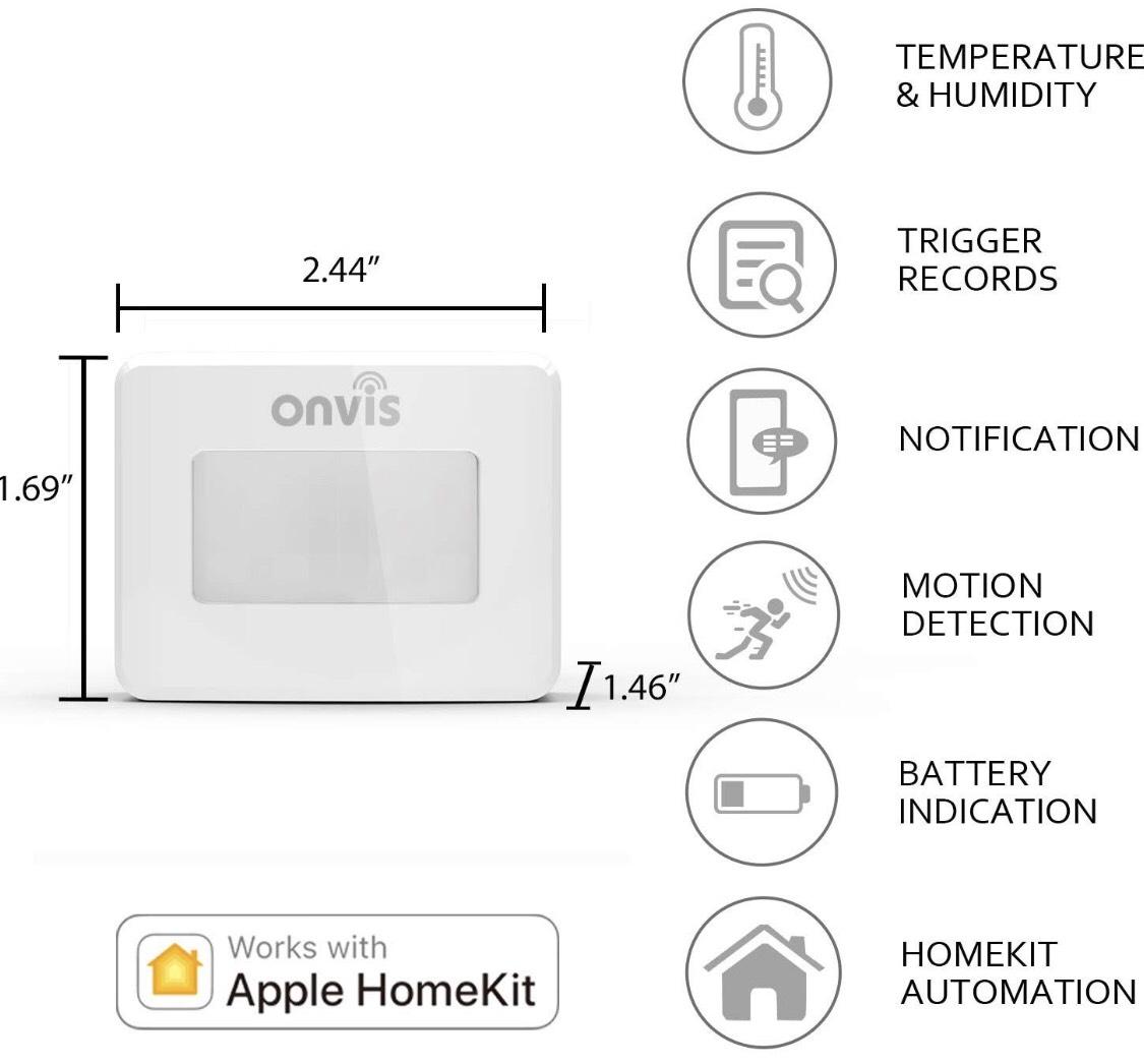 ONVIS Smart, Intelligenter Bewegungsmelder kompatibel mit Apple HomeKit