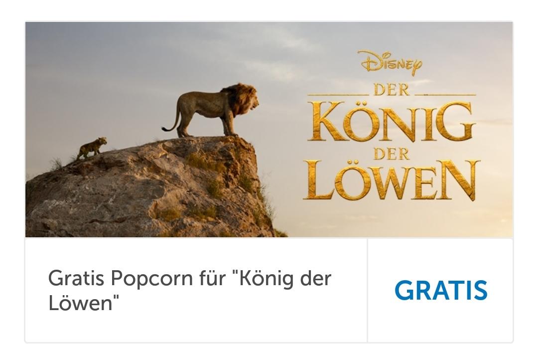 [LIDL-App | Hollywood Megaplex] Gratis Popcorn zum König der Löwen Kinoticket