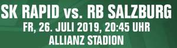 A1 Now: Auftaktmatch Sk Rapid gegen Red Bull Salzburg gratis