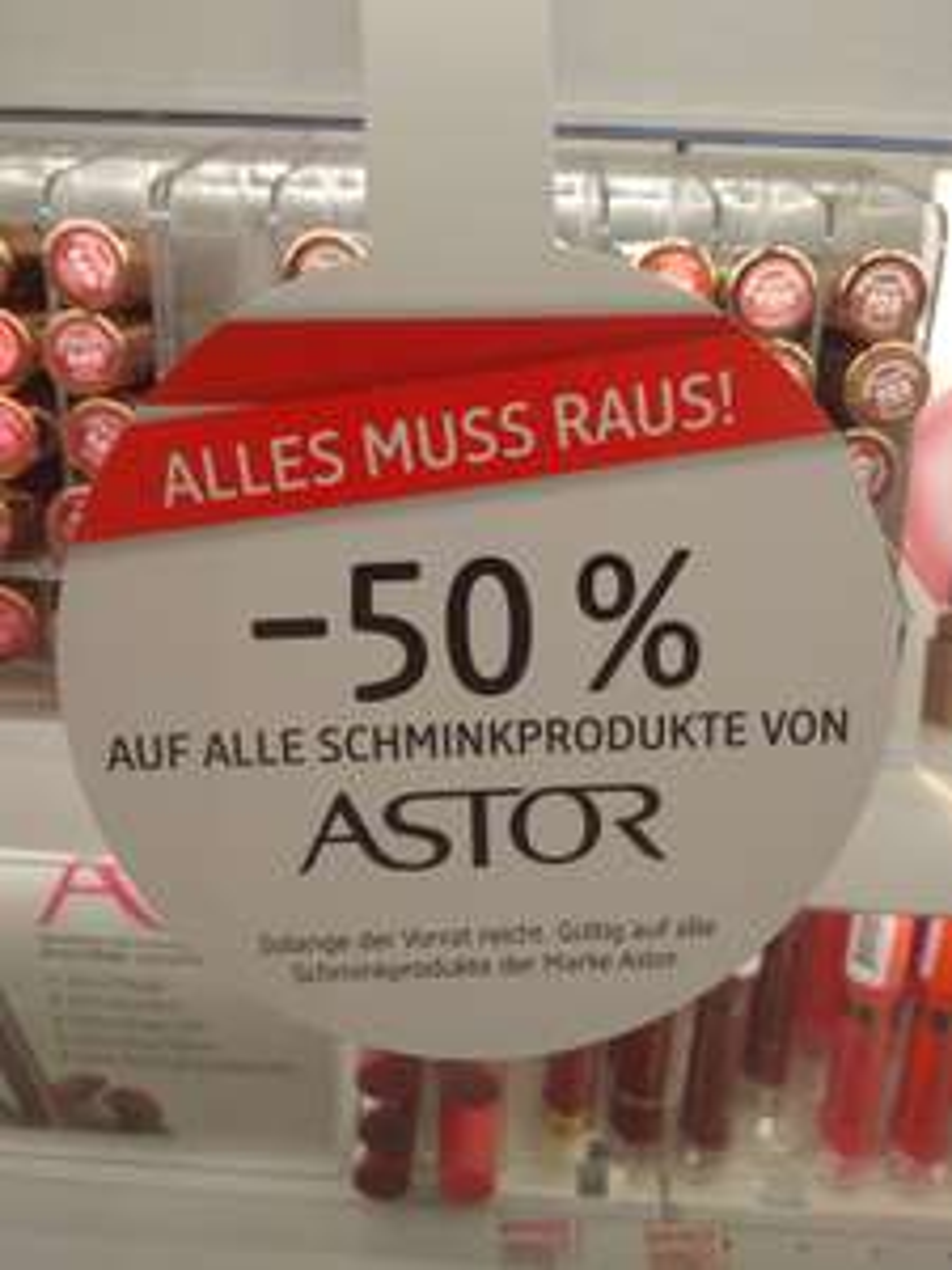 [DM] -50% auf alle Schminktprodukte von Astor