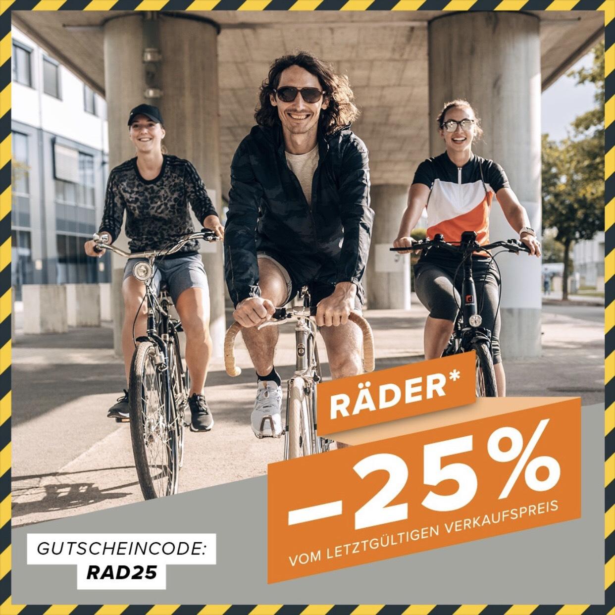 [HERVIS] Nur Online -25% auf Räder