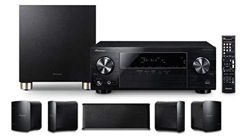 Pioneer HTP-074(B) 5.1 Heimkinosystem mit AV Receiver und Lautsprecher Set (100 W/Kanal, Multiroom, Dolby TrueHD, Bluetooth, Radio)