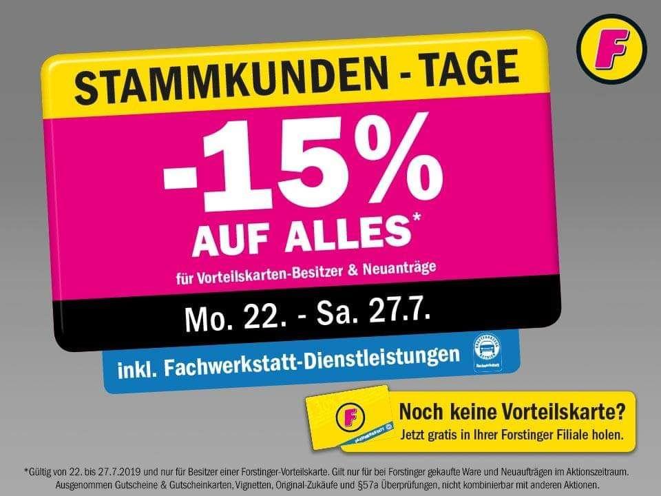 Forstinger: -15% für Vorteilskarten-Besitzer