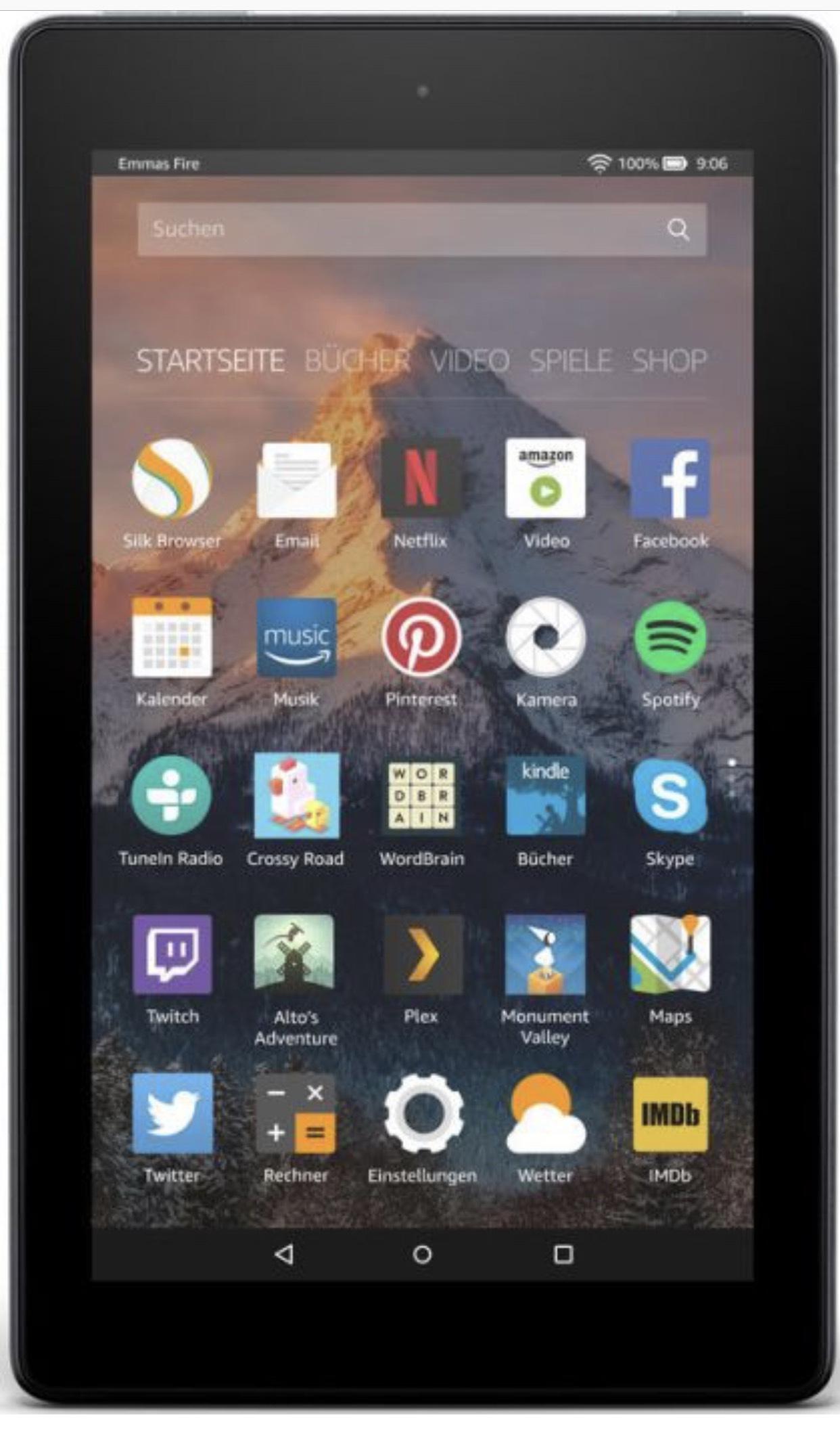 Amazon Fire 7-Tablet 16 GB, Schwarz, mit Spezialangeboten