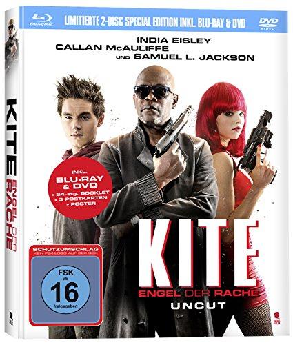 Kite - Engel der Rache (limitiertes Mediabook mit 24-seitigem Booklet, Fanposter uvm.) [DVD + Blu-ray]