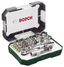 Bosch X-Line Bitset/Steckschlüsselsatz, 26-tlg.