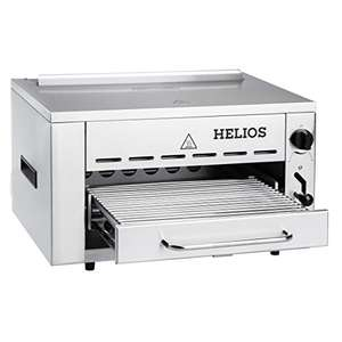 Helios Meateor 800°C Oberhitze-Gasgrill aus Edelstahl inkl. Grillrost und Gastroschale