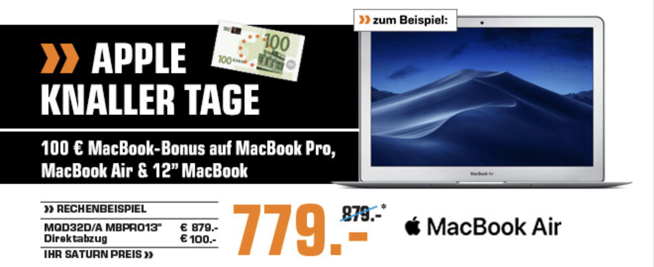 """-100€ auf MacBooks zB. MacBook Air 13"""" Saturn Gerngross"""