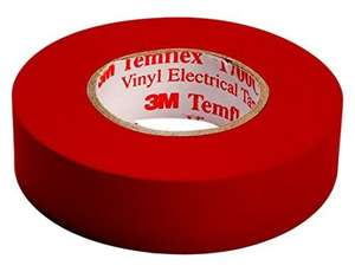 3M Temflex Elektro-Isolierband, 15 mm x 10 m, 0,15 mm, Rot oder Braun