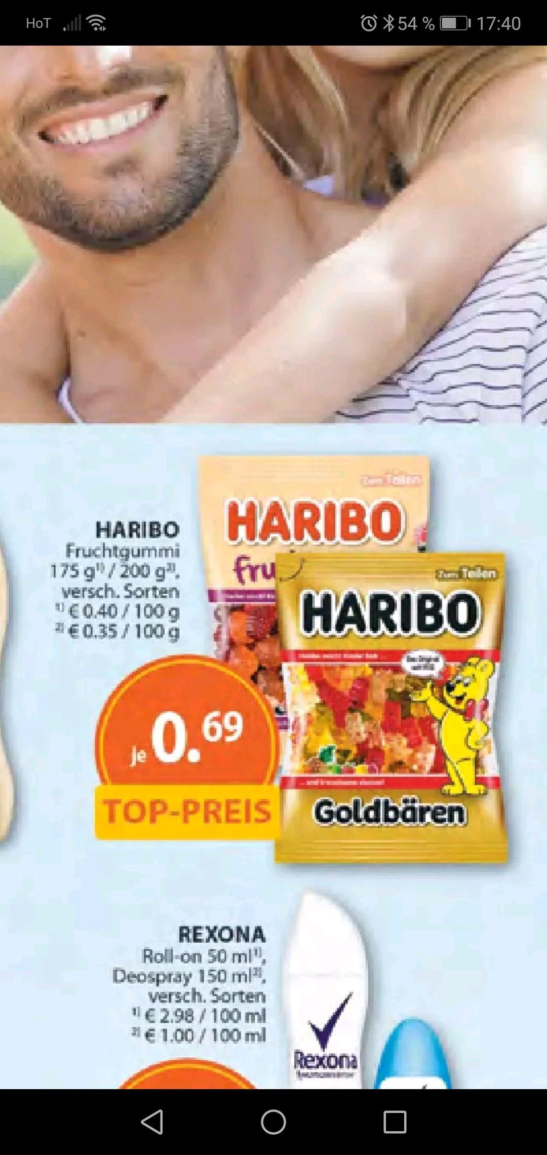 Müller Haribo fruchtgummi versch. Sorten um 69 cent