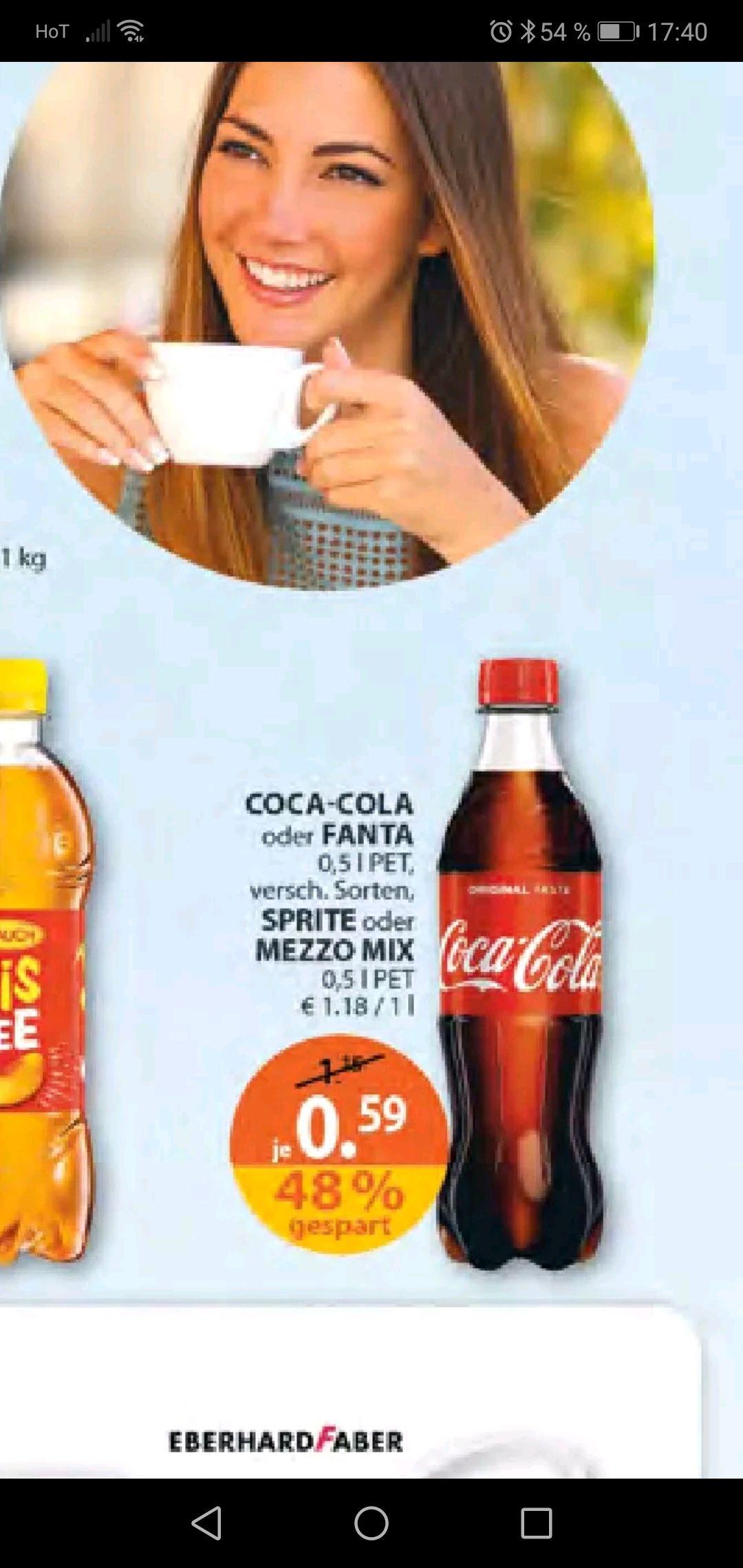Müller 0.5 Liter Cola Fanta sprite mezzo zum top Preis