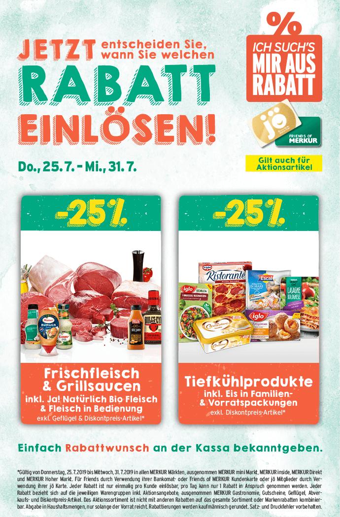 Lebensmittelhandel Angebotsübersicht 25.7.2019 - 31.7.2019