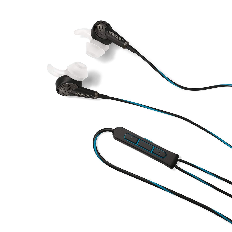 Bose QuietComfort 20 In-Ear-Kopfhörer (Acoustic Noise Cancelling, geeignet für Apple Gerät, 3,5 mm Klinkenstecker, 1,32 m Kabellänge)