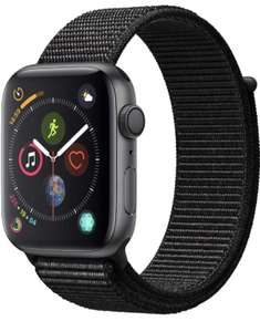 Apple Watch 4 in space grau mit 44mm und Sport Loop