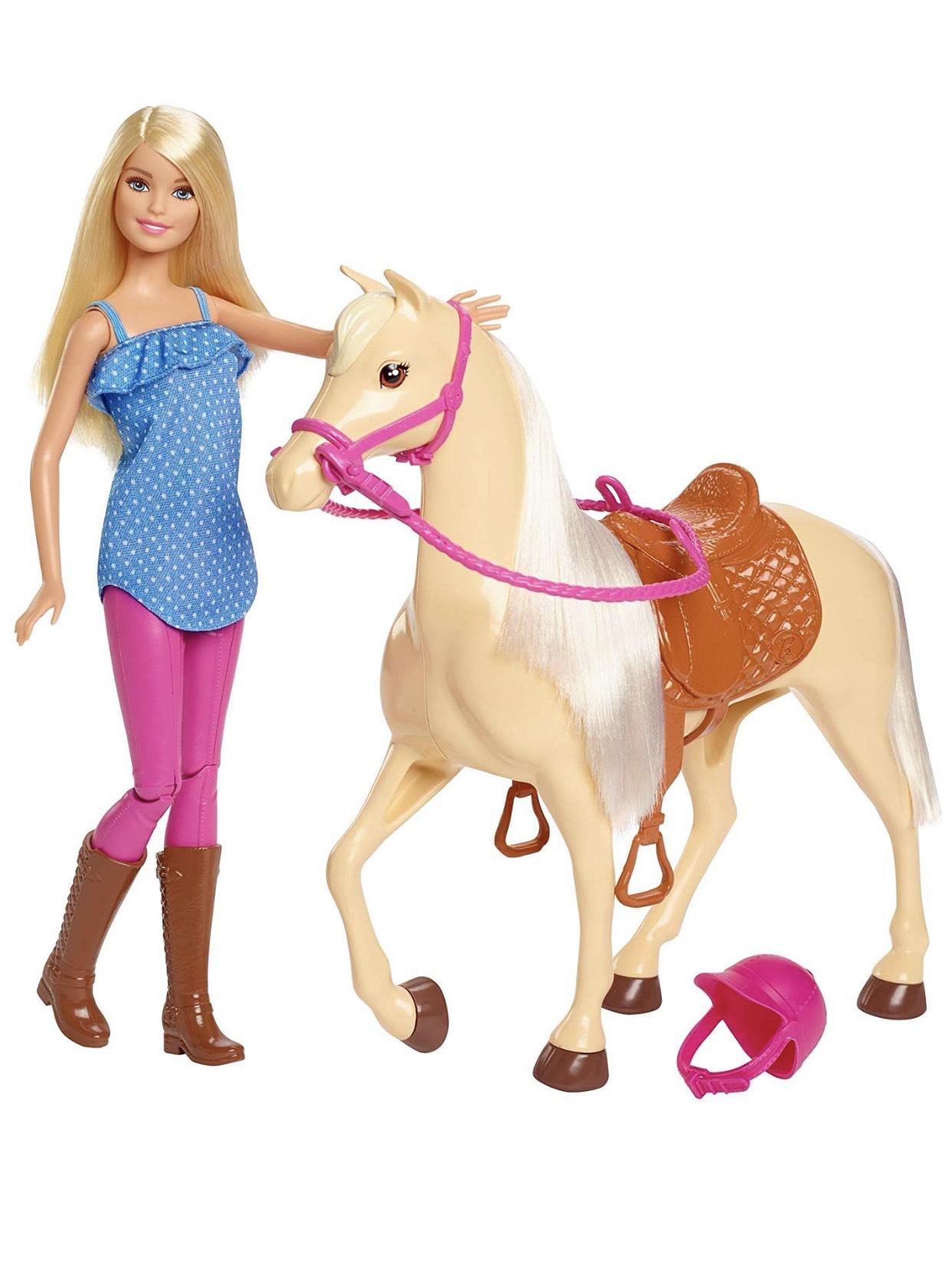 Barbie FXH13 - Pferd mit Mähne und Puppe
