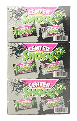 Center Shock - 3 Boxen á 100 Kaugummis, extra-sauer, Cola und Blutorange