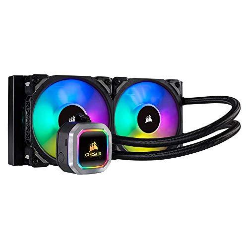 Corsair Hydro Series H100i RGB Platinum Wasserkühlung/CPU-Flüssigkeitskühlung (240mm Radiator, Zwei ML Pro 120mm RGB PWM Lüfter)