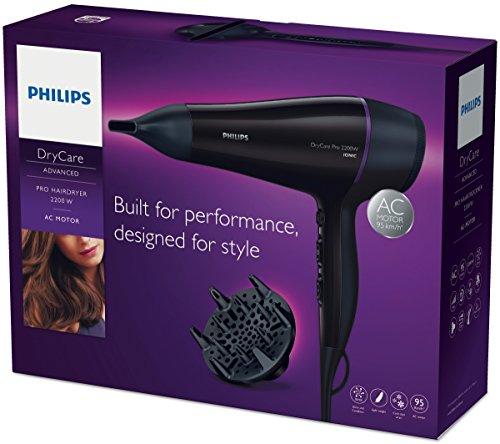 Philips DryCare Pro Haartrockner BHD176/00 (2200 W, Ionisierungsfunktion, 2 Aufsätze)