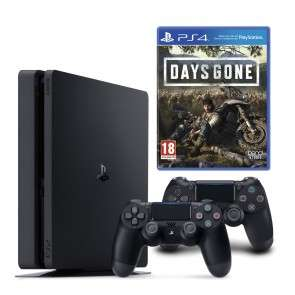 Sony PlayStation 4 Slim 1TB inkl. 1x Days Gone & 2x DS4 Controller