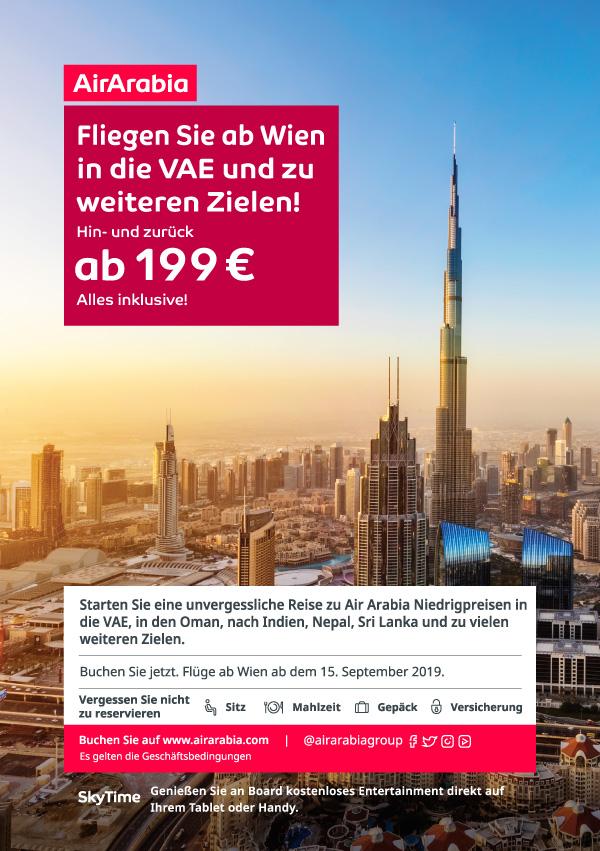 Von Wien nach Sharjah/Dubai zum absoluten Tiefpreis!