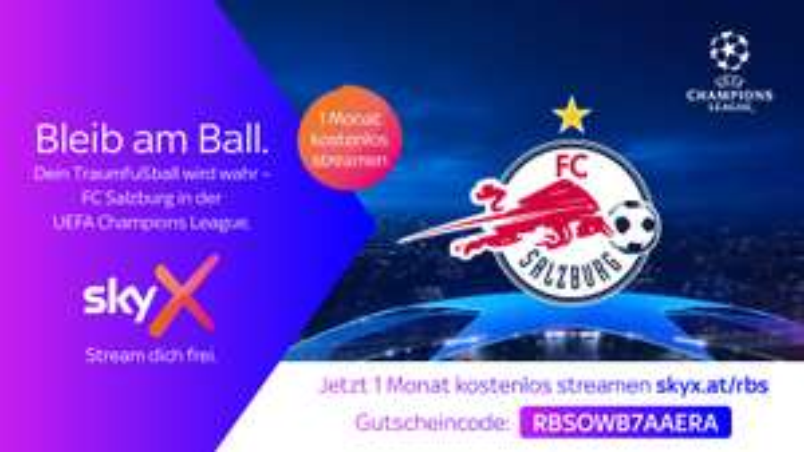 Sky X Sport & Live TV 1 Monat gratis