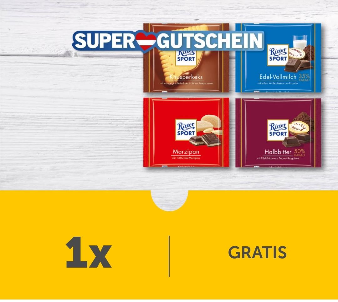 [LIDL-App] Super-Gutscheine - GRATIS Ritter Sport Tafelschokolade 100 g & € 3 sparen (ab € 10 Einkauf)