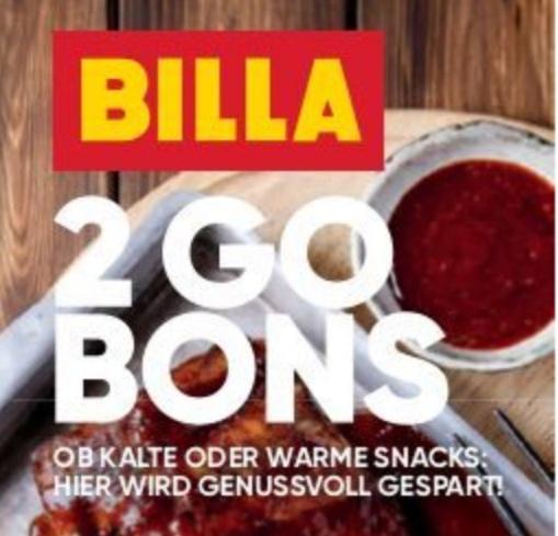 Billa 2 Go Bons - bis 28.08.2019