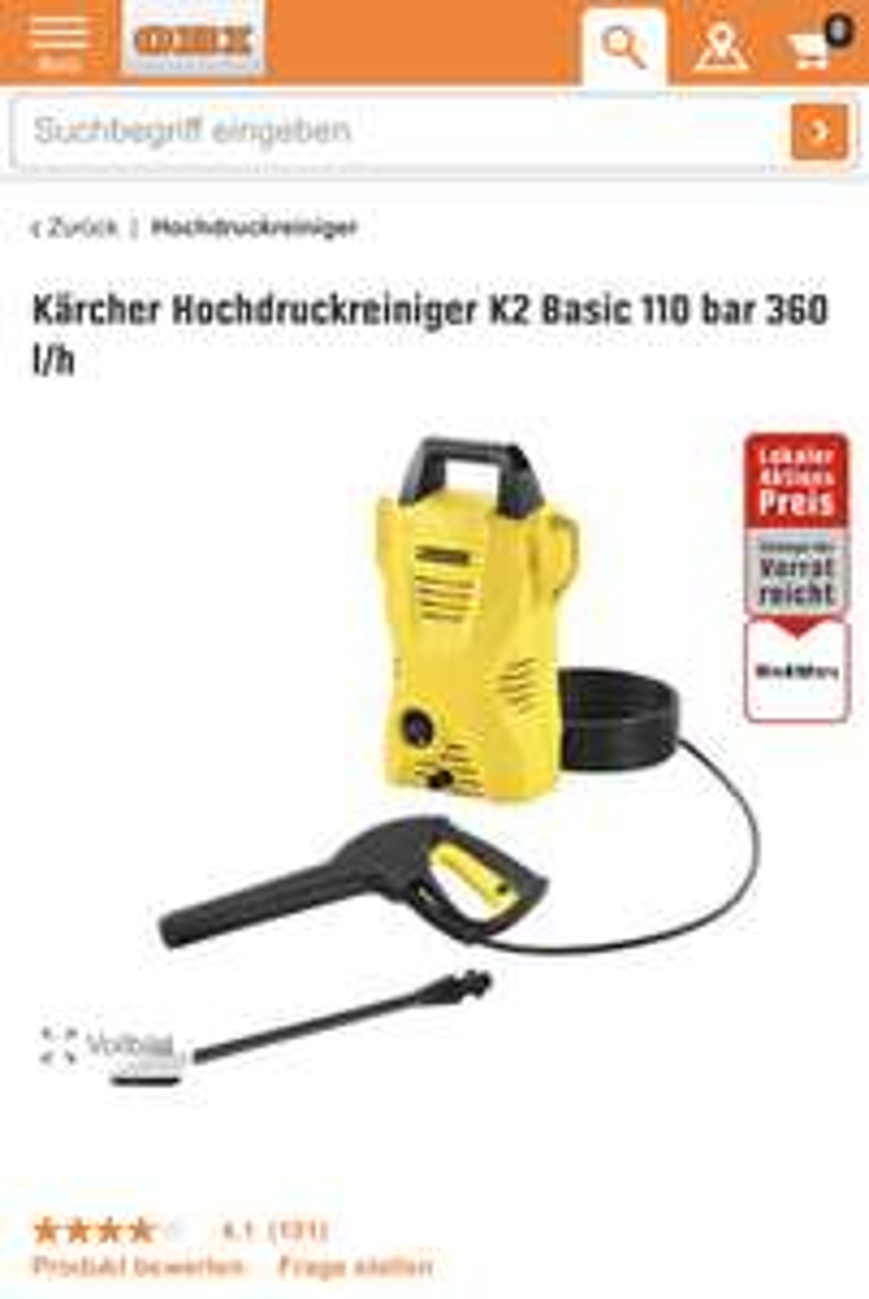 Kärcher Hochdruckreiniger K2 Basic (St. Marx)