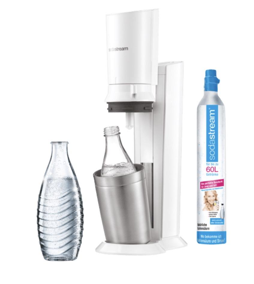 SodaStream Crystal 2.0 weiß Trinkwassersprudler mit 1 Glaskaraffee