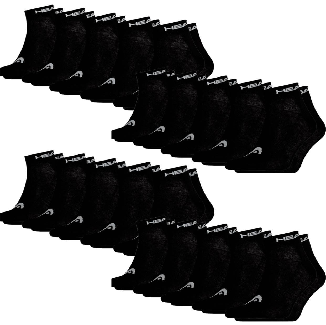 Head Sneaker/Quarter Socken 20er Pack in verschiedenen Farben und Größen kombinierbar