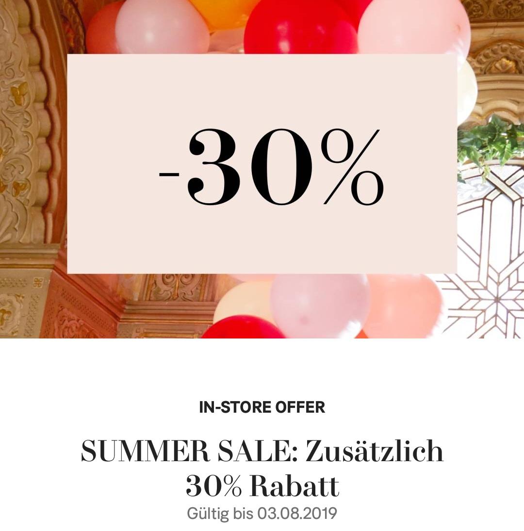[H&M in-store] 30 % Extra-Rabatt auf Sale-Artikel (Members only)