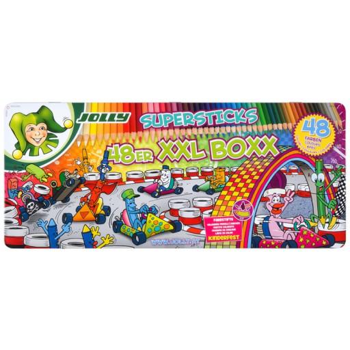 [LIBRO/ Pagro] -20% auf Jolly z.B. Jolly Buntstifte - Supersticks Classic, kinderfest, 48er XXL-Box nur 22,99€ inkl. Versand