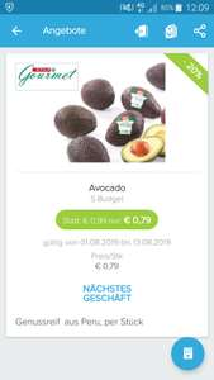 Avocado mit Cashback